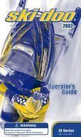 Ski-Doo 2002 MX Z LEGEND SUMMIT 440 380 500 600 700 F Printed Owners Manual