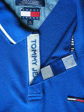 Tommy Jeans Short-sleeved Casual SHIRT : Mens : Blue : XL