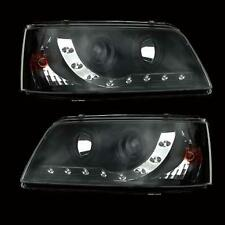 VW TRANSPORTER T5 03- BLACK DRL PROJECTOR STYLE HEADLAMPS - Bright LEDs