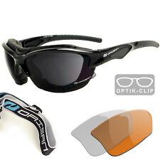 Daisan Multisportbrille Sportbrille mit Windschutz mit Optik-Clip für Sehstärke