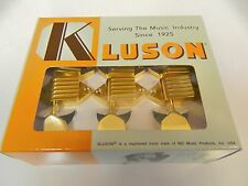 KLUSON SK900SLG/M WAFFLEBACK 3+3 TUNERS W/ METAL KEYSTONE BUTTONS GOLD