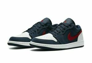 "Nike Air Jordan 1 Low SE ""USA"" Navy red CZ8454-400 Men size 8-9.5"
