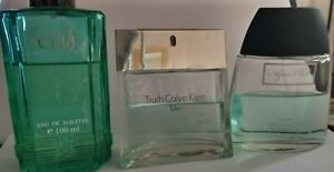 Mens Job Lot 3 Used After Shave 100ml Calvin Klein, Icy Cold, Aqua Chill.