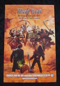 MEAT LOAF BRAVER THAN WE ARE Album poster JIM STEINMAN  original record store pr