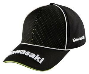 Original Kawasaki Cap Sport Kappe grün schwarz Schirmmütze Cappie NEU