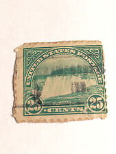 Niagara Falls Green Vintage USA Used 25 Cent Stamp