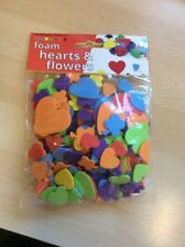 Foam Hearts and Flowers Craft Art - Job Lot 40 Packs - AP/371/HFF