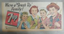 7-Up Ad: Fresh Up With Seven-Up! We're A Fresh Up Family 1940's  7.5 x 15 inches