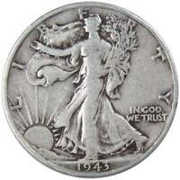 1943 S Liberty Walking Half Dollar AG About Good 90% Silver 50c US Coin