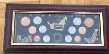 1971 2001 United Arab Emirates Official Set Coins Abu Dhabi Dubai Sharjah Ajman