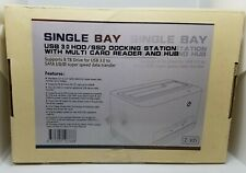 Single Bay USB 3.0 HDD/SSD Docking Station with Multi Card Reader and USB
