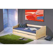 Bett 90x200 cm Kinderbett Funktionsbett Sofabett Massivholzbett Gästebett natur