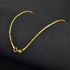 1.2mm Link Chain Stamp: Au750 17.7Inch Authentic 18K Yellow Gold Necklace