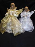 20cm Large Fairy Angel Christmas Tree Topper Decoration To Use On Top Of Tree