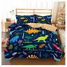 Cartoon Dinosaur Zoo Duvet Cover Set Soft Comforter Cover Set Queen King Size