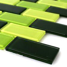 Muster Mosaiksteine Glasfliesen Madagascar grün Rechteck 4mm