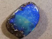 Impressive 7.65CT Australian POLISHED Boulder Opal BLUE/GREEN CRYSTAL TOP