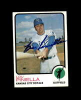 Lou Piniella Hand Signed 1973 Topps Kansas City Royals Autograph