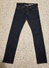 H&M Conscious Denim Men's Jeans 30 x 32 Slim Low Waist Button Fly Dark Wash