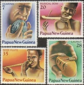 MUH Papua New Guinea Musical Instruments 1979 Stamp Set