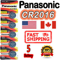 5 Pcs Panasonic CR2016 Button Cell Lithium Battery 3V **EXP. 2027** FREE RETURN