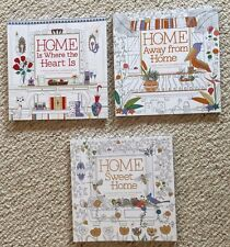 Lot Of 3 New Home Sweet Home Garden Floral Bird Adult Coloring Books BN Grown Up
