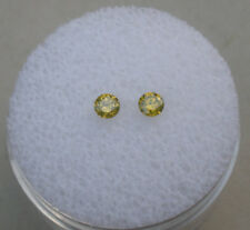 Yellow Diamond Round Loose Faceted Natural Pair 3mm each