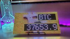 Bitcoin Crypto LED Pixel Display Price Ticker