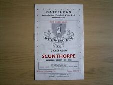 GATESHEAD v SCUNTHORPE UNITED RESERVES North Regional League 1963-64
