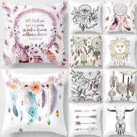 Bohemia Dream Catcher Pillow Case Cushion Cover 18''x18'' Soft Home Decor Eyeful
