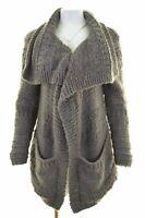 WHISTLES Womens Cardigan Sweater One Size Grey Acrylic  LW08