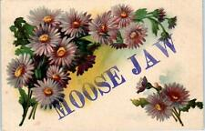 MOOSE JAW, Sask, Canada   Greetings from MOOSE JAW  Flowers   1908     Postcard