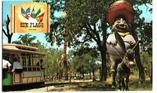 POSTCARD SIX FLAGS OVER TEXAS FIESTA TRAIN MEXICAN SECTION DALLAS FORT WORTH TX