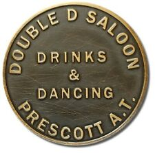 2 Great Brothel Tokens--Double D Saloon and Fat Fannie's
