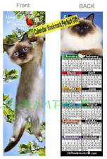 "Cat 2021 Calendar Bookmark 6"" Ragdoll Hang in There Birman Art Card Perfect Gift"