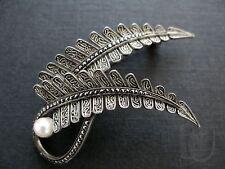 J0091 Silber 925 Art Deco Brosche Perle THEODOR FAHRNER signiert ~1925 ...