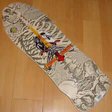 "POWELL PERALTA - Geegah Skull & Sword Skateboard Deck '80s Classic - 9.75"" White"