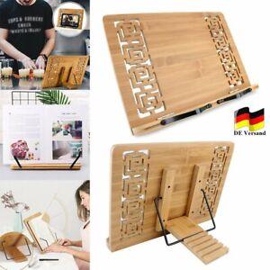 Buchständer Leseständer aus Bambus 5-fach verstellbar Kochbuchhalter Ständer DHL
