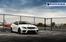 20x9 20x10 +33 Rohana RF1 5x112 Black Wheel Fit Mercedes Benz C63 2012 Staggered