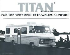 Motor Home Brochure - Champion - Titan - 1982  (MH113)