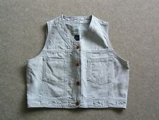 LADIES 100% LINEN JEANSWEAR CROPPED TOP GAP M
