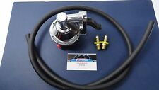SBC Chevy Replacement Chrome Mechanical Fuel Pump 305 350 400 W/ Fittings & hose