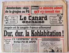 Le Canard Enchaîné 18/06/1997; Dessin de Cabu/ Le Pen et la droite/ Défense