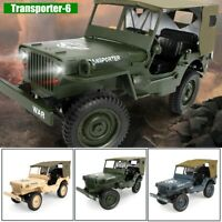 JJRC Q65 2.4G 1/10 RC Car Military Truck Rock Crawler 4WD Off-Road RC Truck US