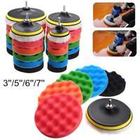 7Pcs/set Buffing Sponge Buffer Polishing Pad Kit For Car Polisher Disc 3'size-AU