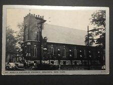 Antique POSTCARD c1946 St. Mary's Catholic Church ONEONTA, NY (20459)