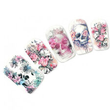 Halloween Flower Skull Ghost Nail Art Sticker Water Transfer Stickers Nair Decor