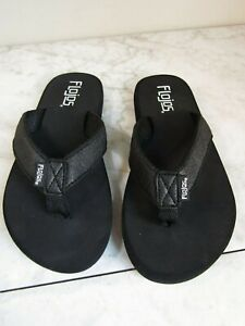 Flojos Black Cushioned Flip Flop Sandal Children's Shoes Size 13 -1