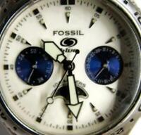 Fossil Blue BQ-9141 Chrono WR100m Sun Moon Day Date Watch Analog Quartz New Batt
