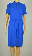 Anne Klein Womens Blue Short Sleeve Belted Shirt Dress 8